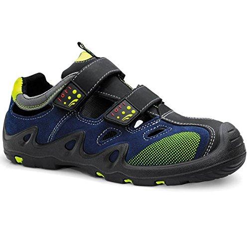 JORI Sicherheitsschuhe HARVEY Easy S1P, Damen und Herren, Sandale, luftig, Blau, Kunststoffkappe - Größe 45