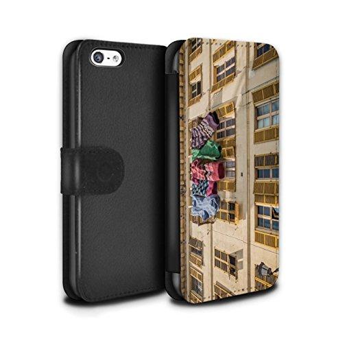 Stuff4 Coque/Etui/Housse Cuir PU Case/Cover pour Apple iPhone 5C / Fausse Alarme Design / Imaginer Collection Belles Chaussettes