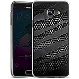 Samsung Galaxy A3 (2016) Housse Étui Protection Coque Carbone Métal Look