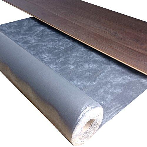 10 m² / uficell Silence Floor Akustik Trittschalldämmung und Gehschalldämmung für Laminat und Parkettböden | Stärke: 2 mm | Rollengröße: 10 m² | Materialdichte: 1 to/m³ - uficell - Wir machen Ihren Boden Leiser !! - Sie kaufen 1 Rolle mit 10 m²
