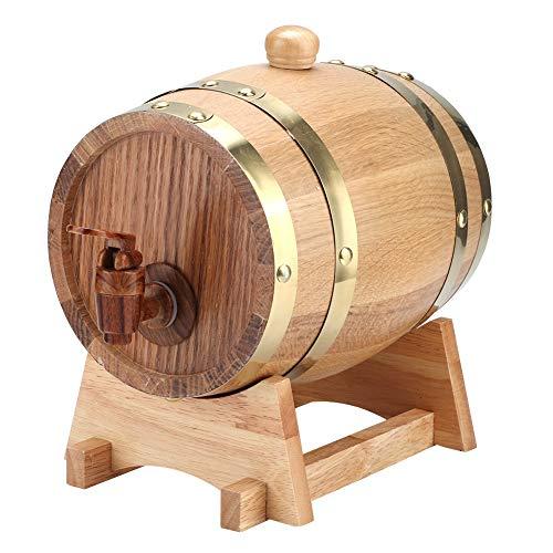 Cubo de decoración de barril de vino, Jadpes 1.5L Vintage barril de barril de vino de madera de roble...