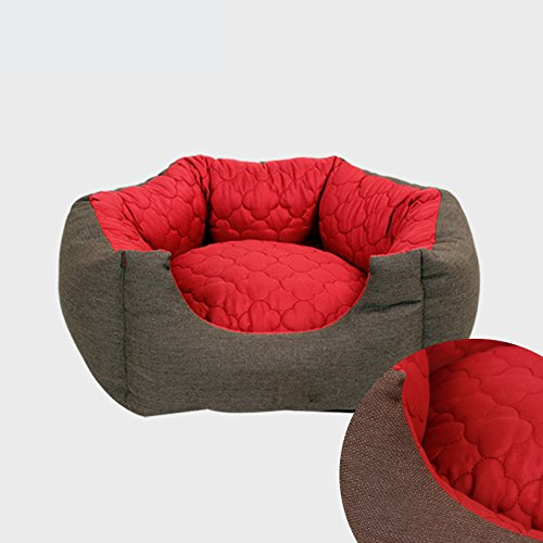 Cuccia-da-interno-per-cane-Morbida-Dogshore-Exagon-Tessuto-Alta-Qualit-65X58X22