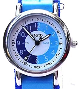 105036CC - 105036CC Boys Watch with Blue Learn to Tell the Time Dial and Blue Velcro Strap