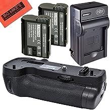 Battery Grip Kit for Nikon D500 Digital SLR Camera (Replacement For MB-D17) - Includes Qty 2 EN-EL15 Batteries + Rapid AC/DC Battery Charger + Vertical Battery Grip