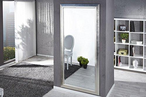 DuNord DesignWandspiegel Standspiegel PURE silber 180cm Design Accessoire Spiegel