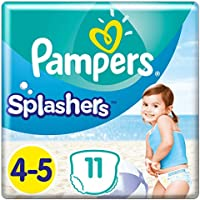 Pampers Splashers Größe4-5 (4 Packungen x 11Einweg-Schwimmwindeln)