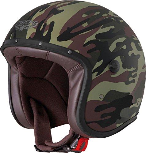 Caberg Freeride Helm Commander matt Grün Schwarz, 30020078, Größe XXL (62 cm) Dame Commander
