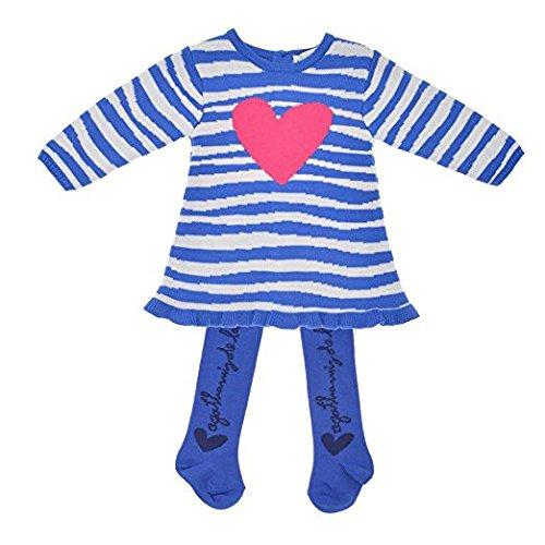 Agatha Ruiz De La Prada Kleid für Mädchen, Farbe: Weiß/Blau, 12 Monate
