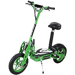 E-Scooter patinete original E-flux Vision 1000 Watt 36 V motor eléctrico con E-Scooter en muchos coloures - Green
