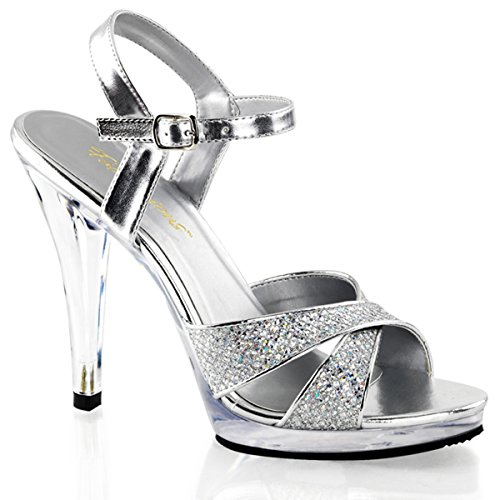 Heels-Perfect , Sandales pour femme Argent - Silber (Silber)