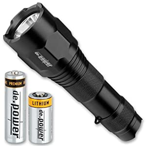 de.power Dual LED Battery Torch