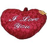 Herzkissen ca. 25 cm in rot Schriftzug 'I love you'
