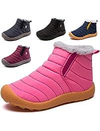 99059ccd Botas de Nieve Hombre Mujer Botas de Invierno Cortas Fur Aire Libre Boots  Botines Niños Invierno