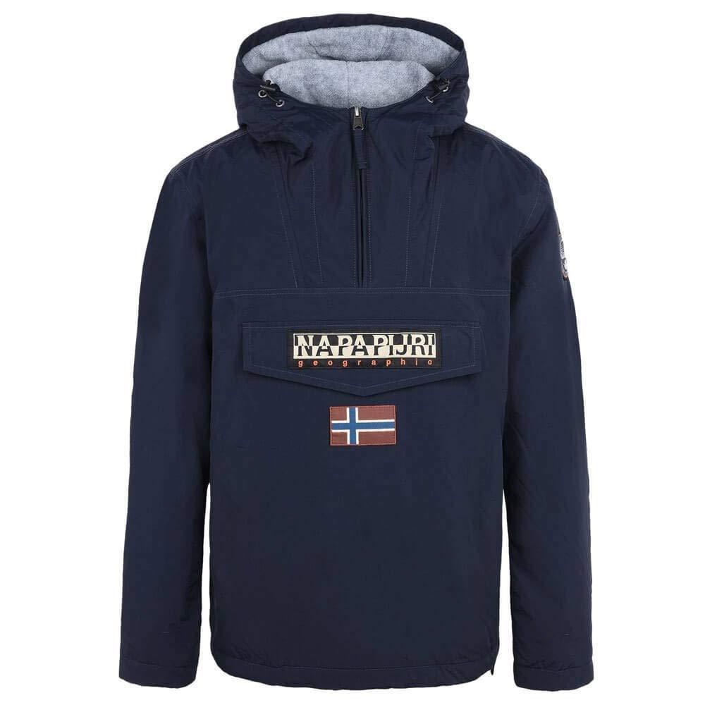 napapijri rainforest winter jacke giacca uomo blu marine 176 x-small