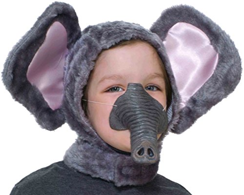 Elephant Hood & Nose Animal Costume Set Child Standard