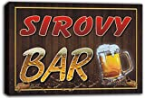 scw3-103093 SIROVY Name Home Bar Pub Beer Mugs Cheers Stretched Canvas Print Sign