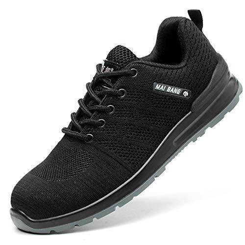 TQGOLD® Sicherheitsschuhe Herren Damen S3 Leicht Arbeitsschuhe Turnschuhe Sneaker mit Stahlkappe Sportlich Schutzschuhe