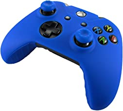 Xbox One Controller High Quality Protective Silicone Case - Blue with 2 Blue Silicone Thumb Grips