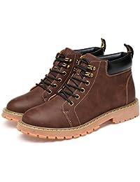 76ec1feadb5f6d Casual Chaussures Robe Alpinisme Automne Plein air [Fond Mou] Boots Glisser  sur Blanc -B Longueur du…