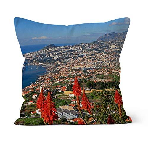 fotobar!style Motivkissen 50 x 50 cm mit Füllung Funchal