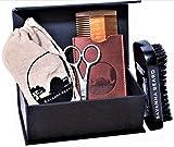 SAVANNA BEARD – Kit de Rasage de Barbe - 100% Brosse A Poils de Sanglier et Peigne...
