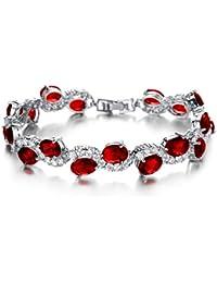 KAXIDY Bracelet Femmes Filles Bijoux Fantaisie Alliage Cristal Bracelet