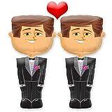 Perfektes Hochzeitsgeschenk: Schwules Airwalker Brautpaar – 2x Bräutigam – 127cm groß