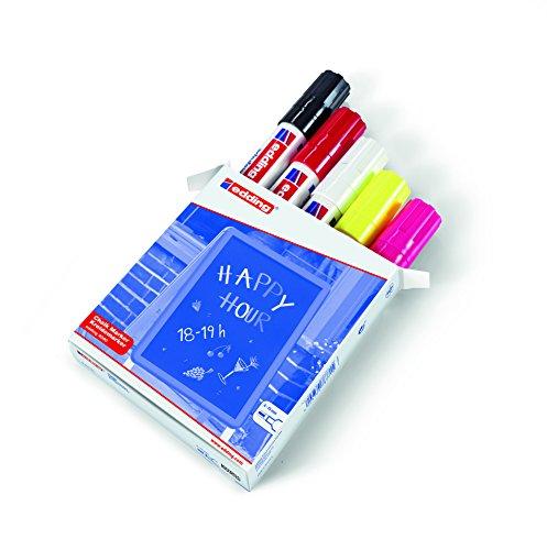 edding-4090-999-caja-con-5-marcadores-de-tiza-liquida-para-pizarras-y-vidrio-con-punta-biselada-colo