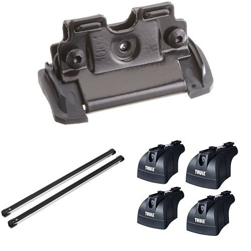 Thule 4015 Montage-Kit + Thule 753 Fixpunktfußsatz + Thule SlideBar 891 Lastenträger