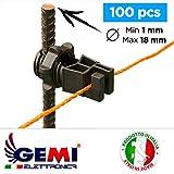 Isolatori Gemi Elettronica per Pali in ferro per recinti elettrici recinto elettrico recinzione...