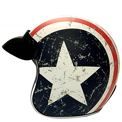Harley Retro Helme Chopper Vintage Motorrad Helm Motocicleta Offenes Gesicht Old School Casco Casque USA Captain S