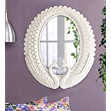 Tied Ribbons Antique Vintage Style Home Decorative Wall Mirror For Bathroom Bedroom Home Décor Living Room (37 Cm X 42 Cm)
