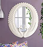 #9: Tied Ribbons Vintage Antique Style Wall Mirror for Living Room Bathroom Bedroom Home Décor (37 cm X 42 cm)