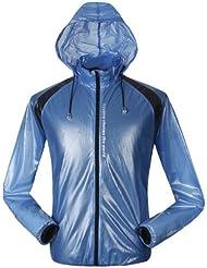 Mountainpeak damas y caballeros impermeable/Chubasquero/Rain Jersey/ropa de protección solar, color azul, tamaño large