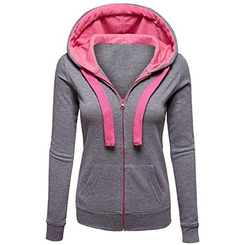 mttroli leicht Hoodies für Frauen Dünn Hoodie Jacken für Damen Plus Größe Mäntel mit Reißverschluss (Mantel Cashmere Baker)