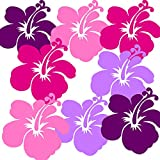 Wandschnörkel® AUFKLEBER Fensterbilder Wandsticker Blumen Mix Set in Lila,Pink,Rosa und Flieder Mix Set Wandtattoo Aufkleber Sticker /Fensteraufkleber/Babydeko