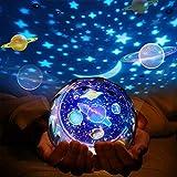 LED Projecteur Etoiles Veilleuse, 360°Rotation Étoiles Projecteur LED Veilleuse Romantique Lampe de projecteur de ciel pour la maison, chambre, chambre d'enfant, anniversaire