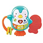 Vtech Baby Little Friendlies Musical Penguin Baby Toy, Rattle and Teether, Educational Musical and Sensory Toy,  Cot and Pram Toy  Suitable for 3 6 and 12 Months
