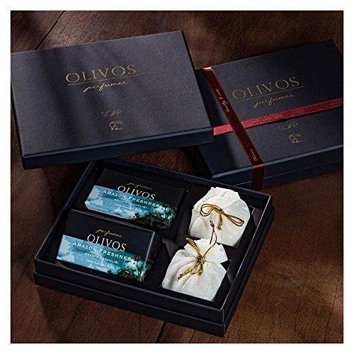 OLIVOS Parfum Set Amazon Freshness Savon 2 x 250 g Savon en Poudre 2 x 100 g