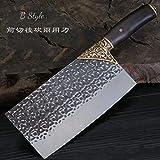 dangfeipeng, coltello da cucina in acciaio al manganese per forgiare chef cinese, coltello da cucina #1294 Stile B.