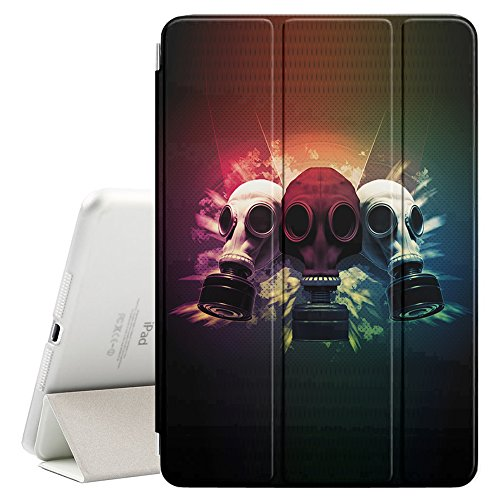 YOYOcovers [ FOR iPad Mini 2 / 3 / 4 ] Smart Cover con funzione del basamento di sonno - Gas Mask Apocalypse Face Art Painting Man