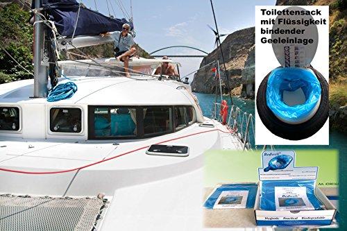 Bedwell Boot Toilettenbeutel mit Superabsorber Gel Einlage PAD PE20 Test