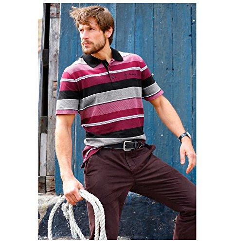 JAN VANDERSTORM Herren Poloshirt HILTWIN in Übergröße | Große Größen | Plus Size | Big Size | XL - 7XL Dunkelrot