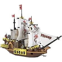 Ausini - Juego de construcción barco pirata, 692 piezas (Colorbaby 40743)