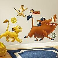 RoomMates RMK1922GM - Pegatinas de pared, diseño Simba, Timón y Pumba gigante