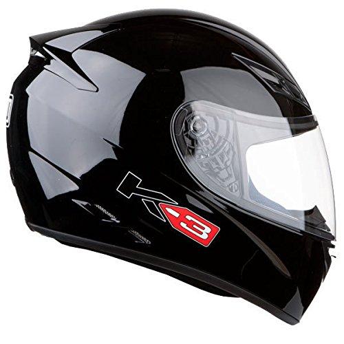 AGV K3–Casco de Moto Negro Brillante