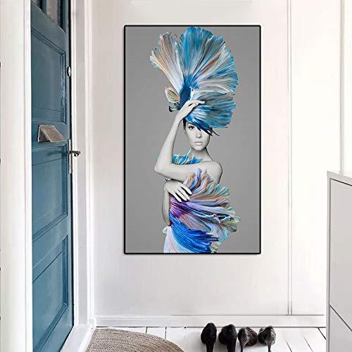 tzxdbh Die Kleine Meerjungfrau Poster und drucke wandkunst Bild Moderne Nordic Figuren leinwand malerei Dekoration Für Wohnzimmer-in einem Gr No Frame 20x30 cm -