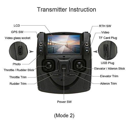 Hubsan H501S X4 Brushless FPV GPS Quadrocopter 5.8 Ghz Drohne mit 1080P Full HD Kamera und Follow-Me Modus RTH-Funktion Schwarz&Gold - 5