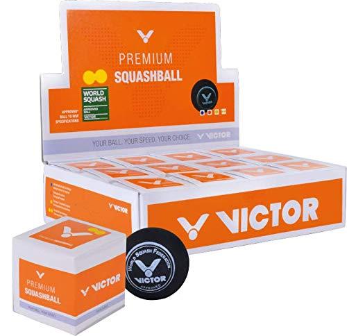 Victor-Squash Bälle doppelgelb 12 Bälle einzeln verpackt