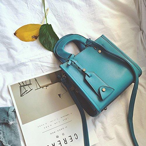 Weibliche art und Weise kleine quadratische paketdiamant pu-dame Kurierbeutel Blau